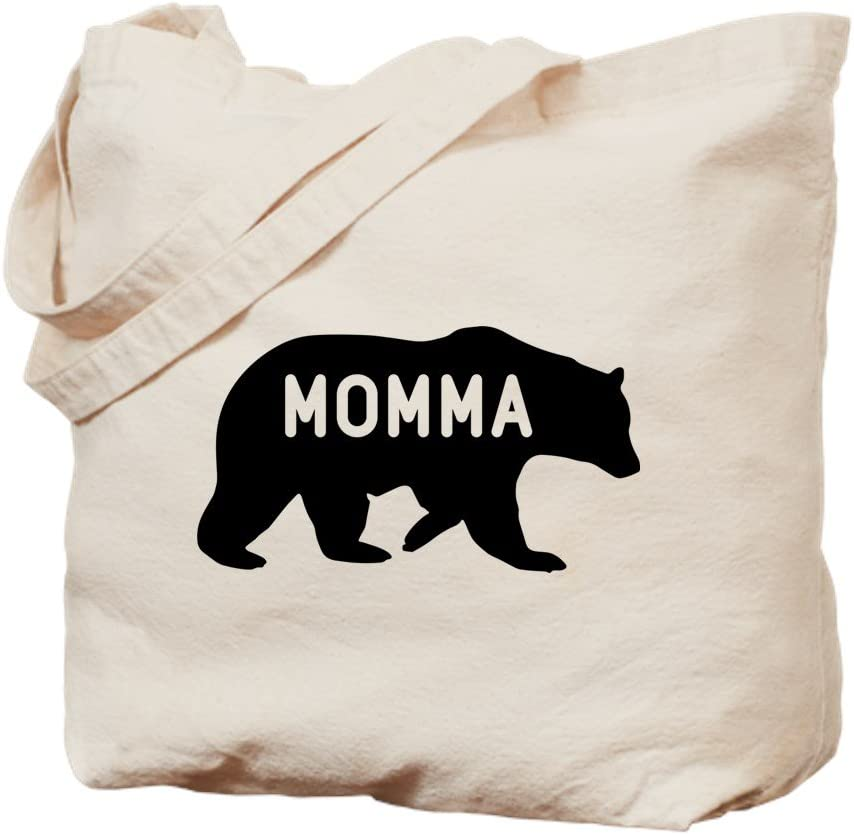 Mama Bear Canvas Tote Bag Gift for her Mom Eco-friendly Shopping bag Birthday Travel Accessory Overnight  Reusable Grocery Woodland