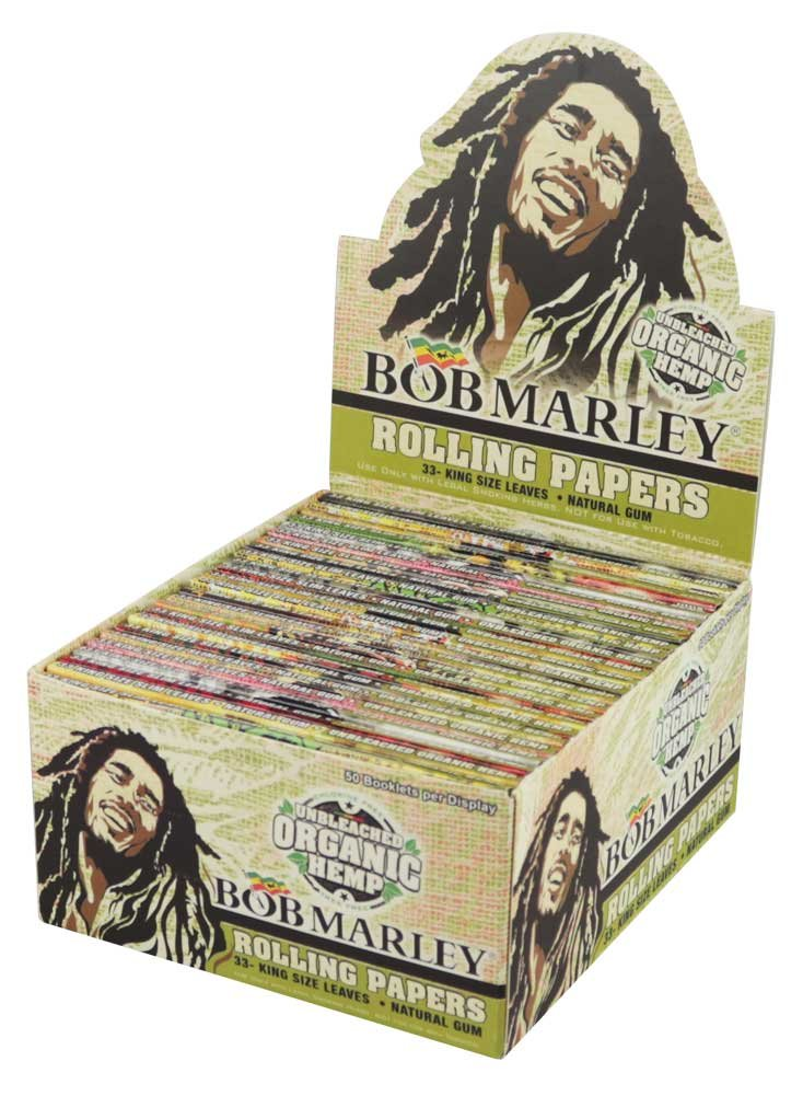 50PC Bob Marley Rolling Papers Organic Hemp - Kingsize by Ultimate Brands LLC