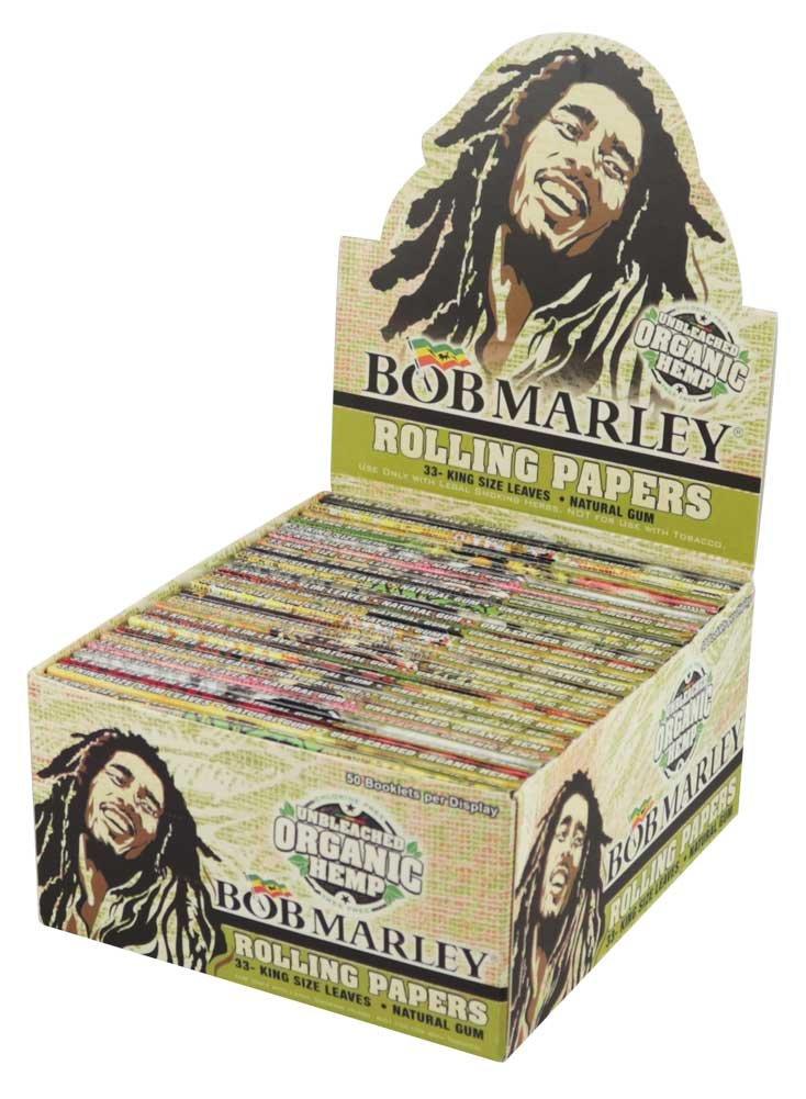 50PC Bob Marley Rolling Papers Organic Hemp - Kingsize