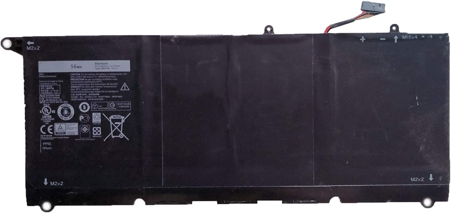 SUNNEAR 56Wh 90V7W Battery for Dell XPS13-9350 Laptop 5K9CP DIN02 JD25G