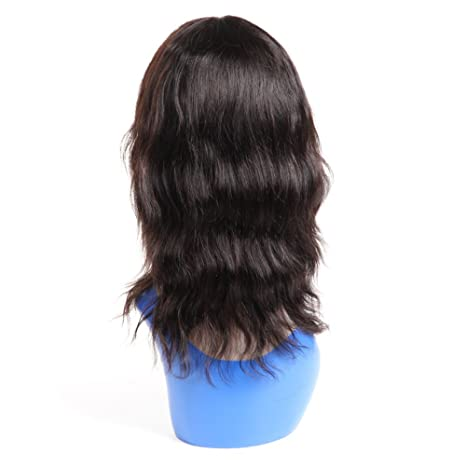 Amazon.com: Short Wavy Human Hair Wigs for Black Women, UDU 12inch 125g Body Wave Short Bob Wigs None Lace Frontal Wigs 150% Density Brazilian Natural Wave ...