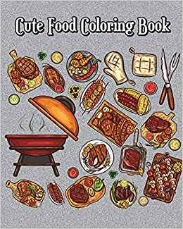 Buy Cute Food Coloring Book A Kids Coloring Book With Fun Easy