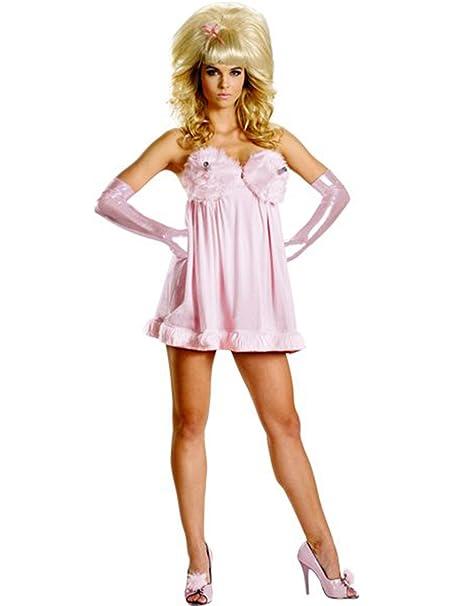 Baby Doll Robot Ladies Fembot Austin Powers Fancy Dress 60s Womens Adult Costume