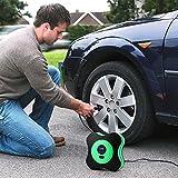 Idefair(TM) Portable Auto Air Compressor Pump Tire,12V DC Digital Tire Inflator,3 High-air Flow Nozzles Adaptors for Cars,Bicycles