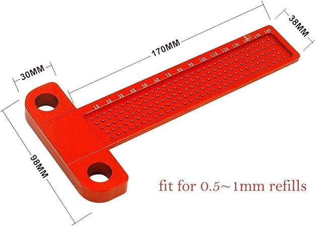 R/ègle /à tracer en alliage daluminium de type T 160 mm pour positionnement du trou