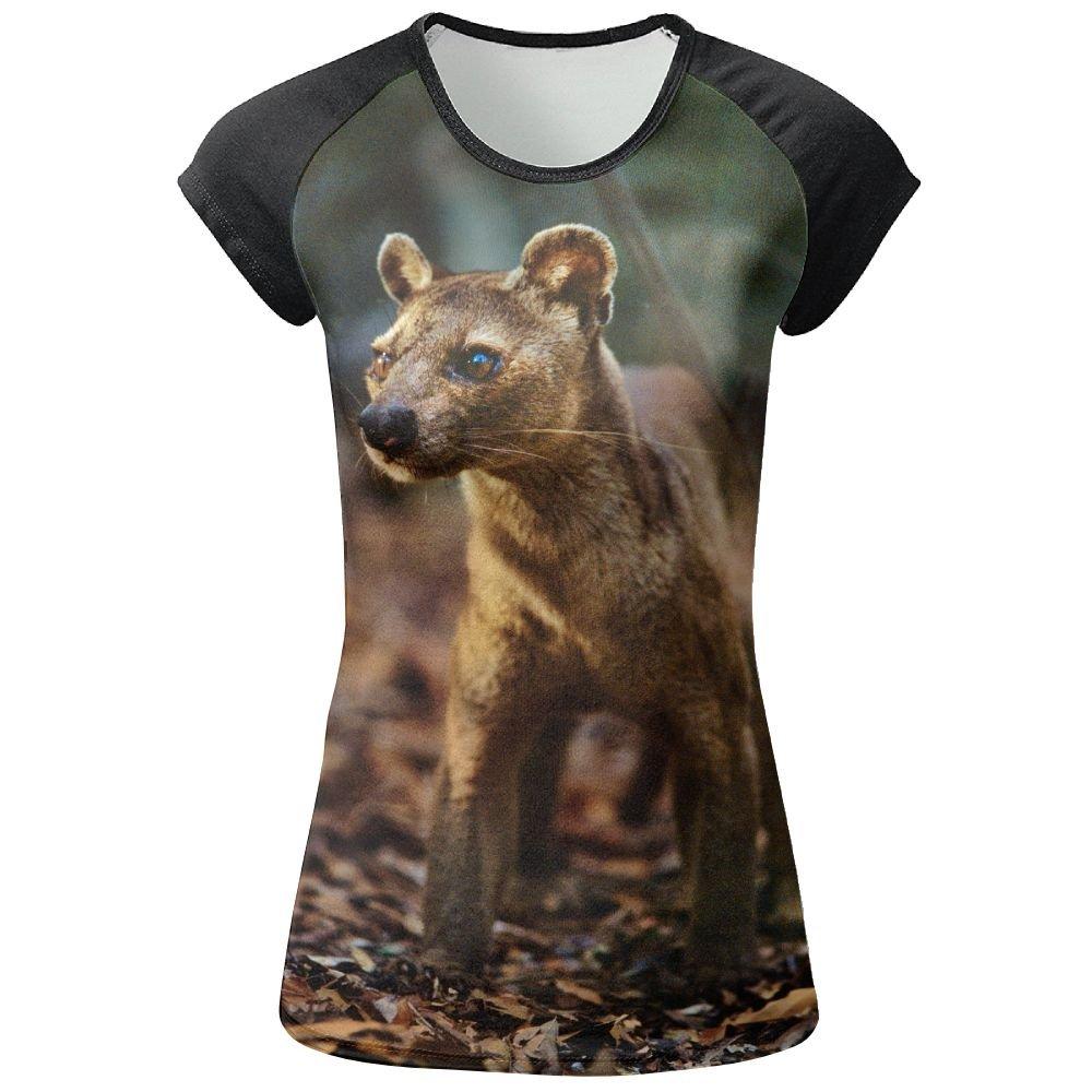 AOBOER Girls Cryptoprocta Ferox Popular Short Sleeves Tees Shirts Tshirt