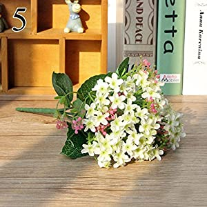 FYYDNZA 1 Bouquet 72 Heads Vivid Orchid Silk Fake Flowers Artificial Flower Bud Wedding Decoration Event Favors,White 82