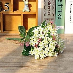 FYYDNZA 1 Bouquet 72 Heads Vivid Orchid Silk Fake Flowers Artificial Flower Bud Wedding Decoration Event Favors,White 36