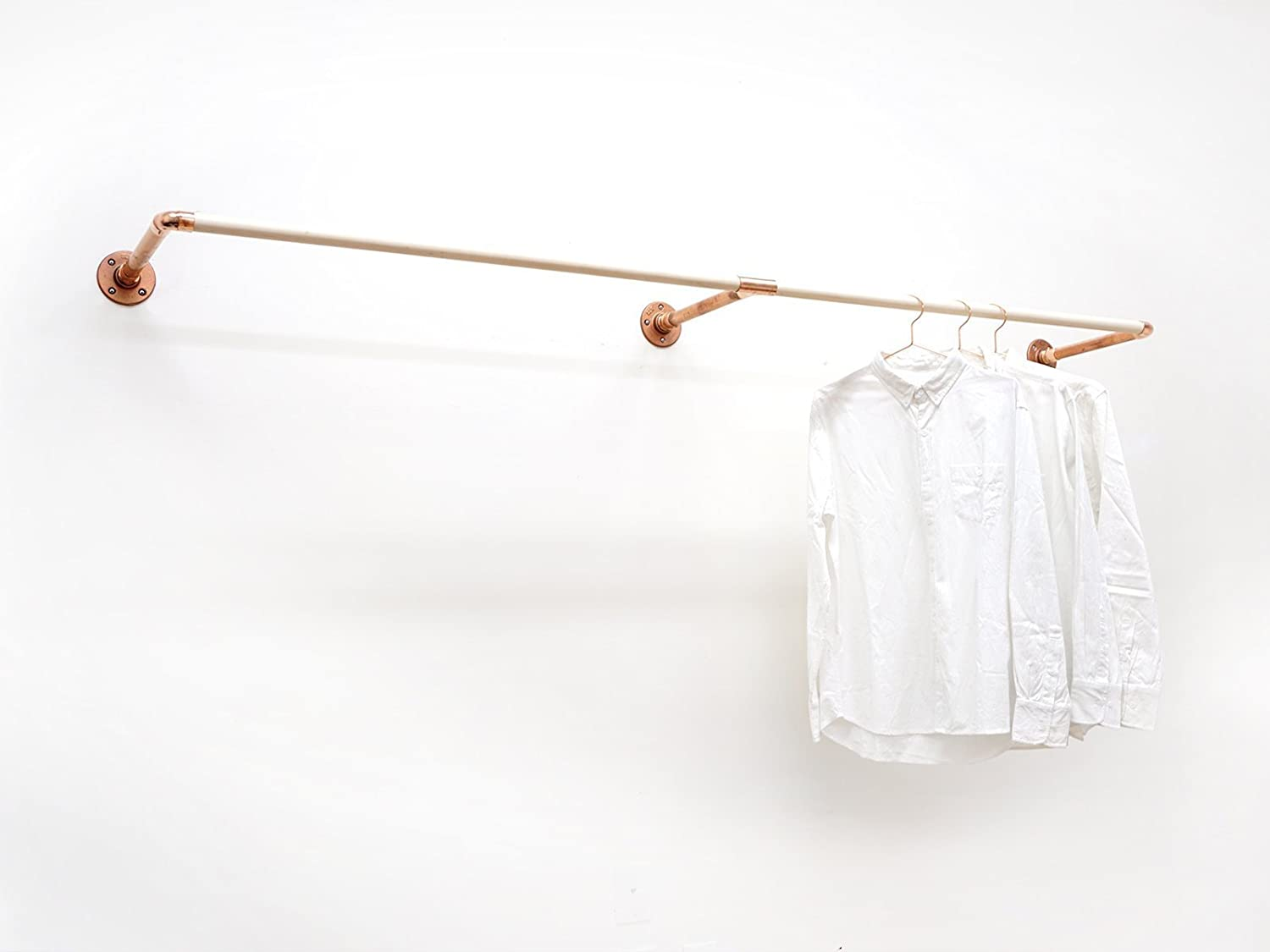 W-Rack • Wall Mount Clothing/Garment Rack • Copper and Wood