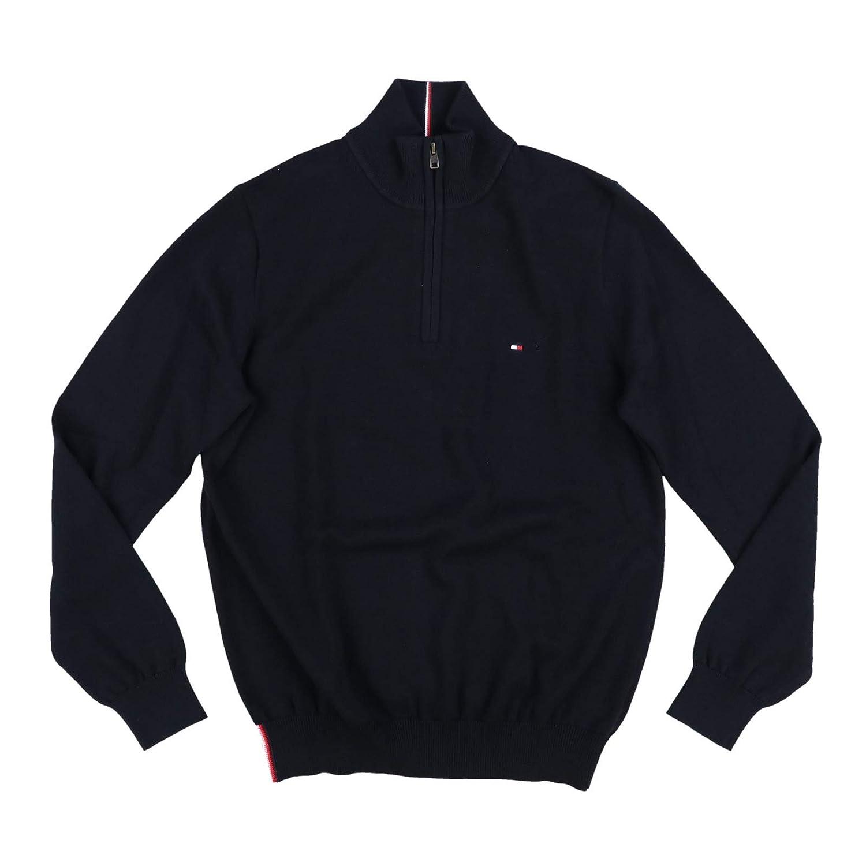 8dfe665f43a Tommy Hilfiger Mens 1/4 Zip Mock Neck Sweater