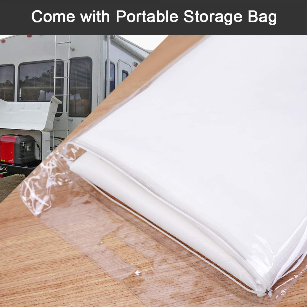 RV Motorhome with Mirror Cutouts Mofeez RV Class C Ford 1997-2018 Windshield Cover with Storage Bag