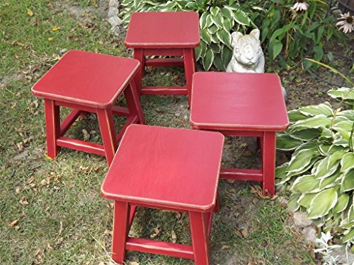 Children's/ chair/ stool/ kid's chair/ distressed stool/ colors/ painted