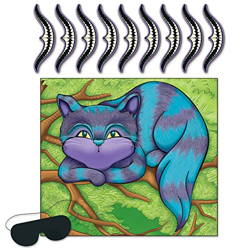 Beistle Pin The Smile On The Cheshire Cat Game (Alice Pinata)