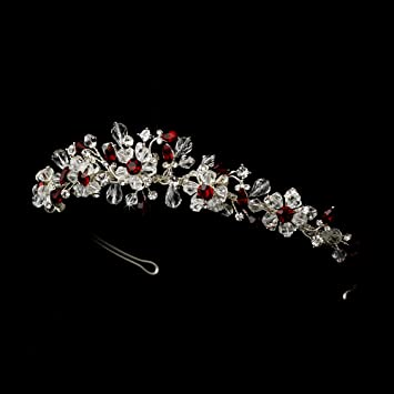 Amazon.com   Aline Silver Red Wedding Bridal Tiara Headband   Fashion  Headbands   Beauty 3d8e2309193