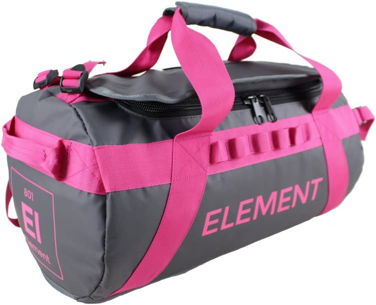 Element Equipment Trailhead Duffel Bag Shoulder Straps Waterproof Grey Small