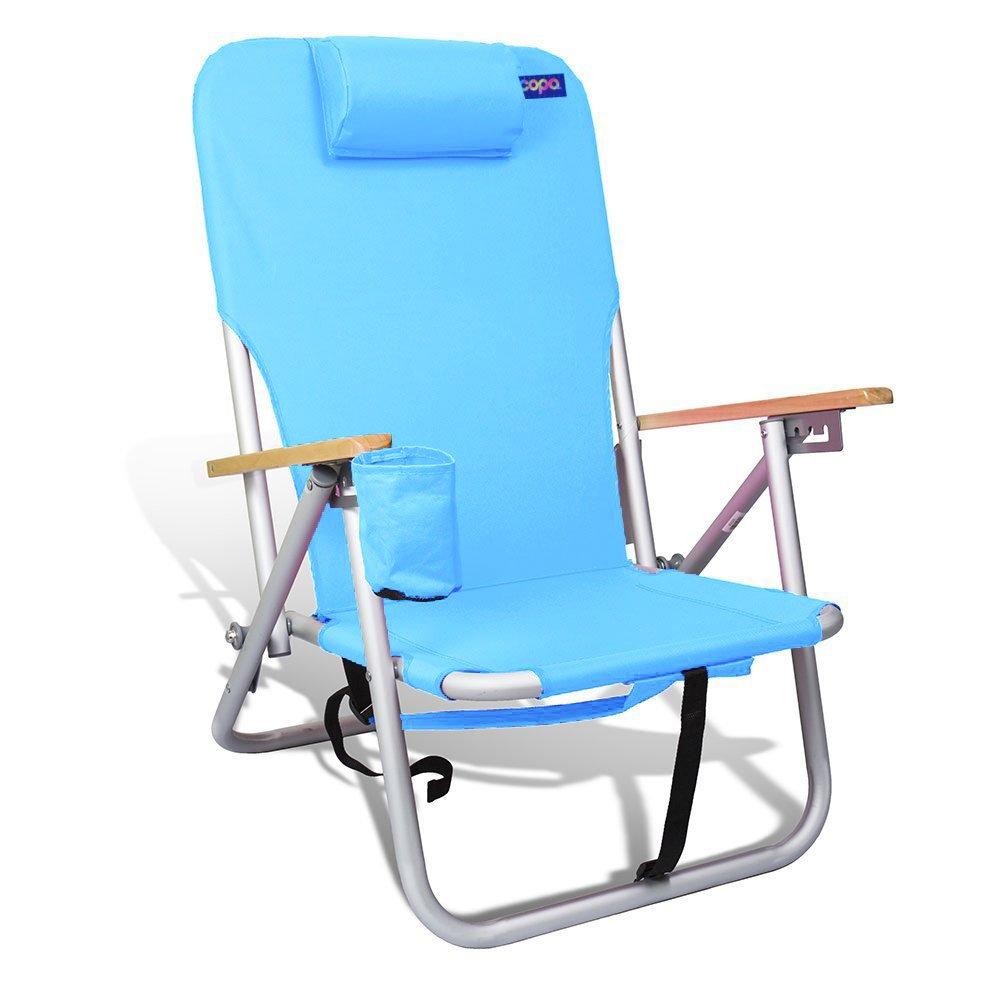 ビーチ、キャンプ椅子軽量頑丈なアルミアウトドアバックパックMultiposition (4位置) by Copa B07BJNDJBC D18A D18A