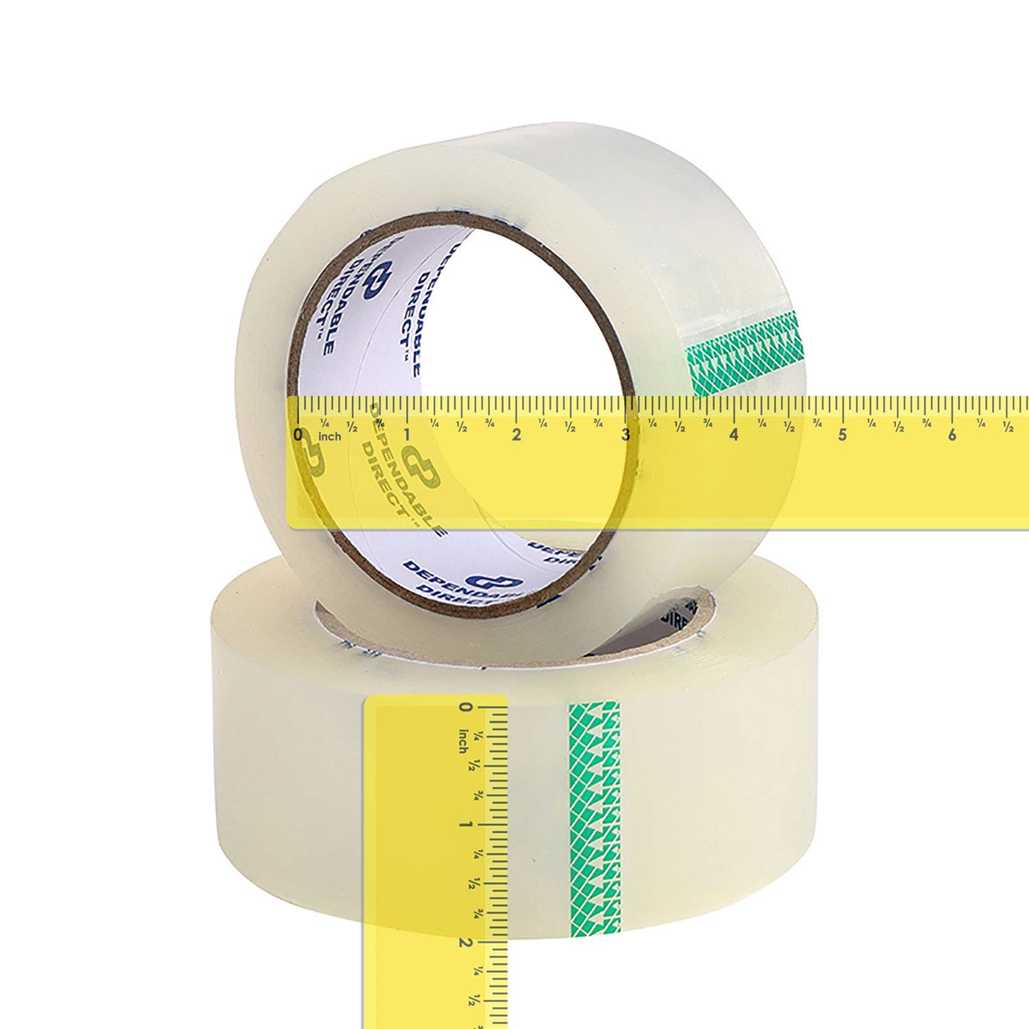 Industrial Grade Clear Packing Tape (72 Rolls) - 110 Yards per Roll - 2'' Wide x 2.7 mil Thick, Acrylic Adhesive Heavy Duty Tape for Box Office Moving Packaging Shipping by Dependable Direct (Image #2)