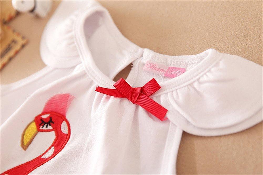 Mud Kingdom Baby Girl Clothes Sets Flamingo Tops and Skirt