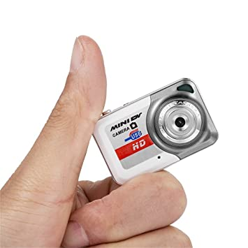 Mini Cámara Espía, Cámara 720P HD DV, Cámara de Video Pequeña Portátil con Detección