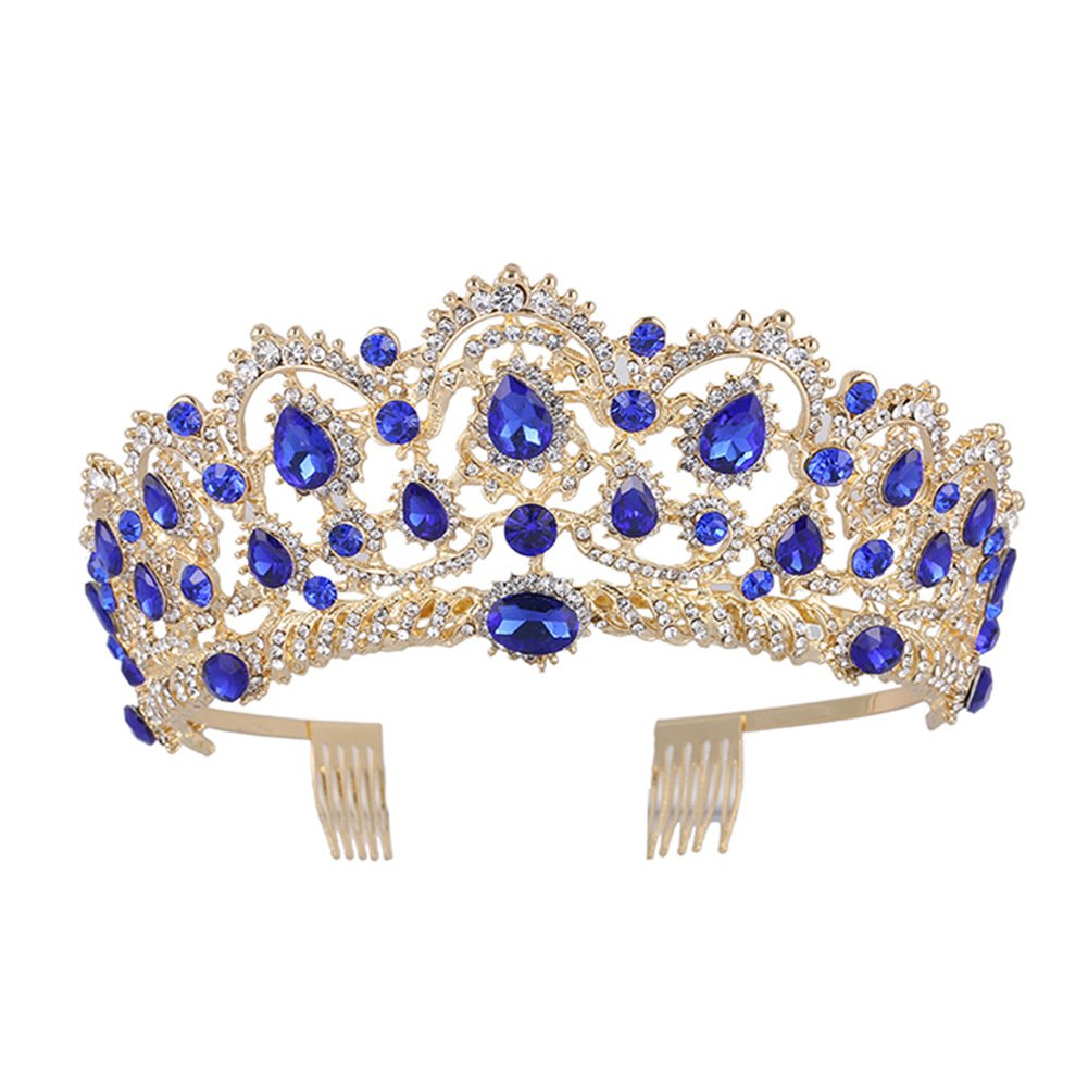ZANTEC Bijoux pour Cheveux, diadème Mariage, Mariage diadème avec Cristaux, Mariage à Couronne pour la cérémonie de Mariage, Proms, Spectacles, Princesse fête, Anniversaire Rouge