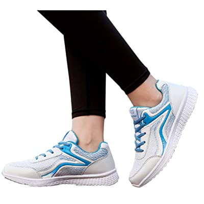 YiYLunneo Women Tennis Shoe Lightweight Wear Resistant Walking Shoes Slip On Lazy Shoes Mother Shoes Running Sneakers