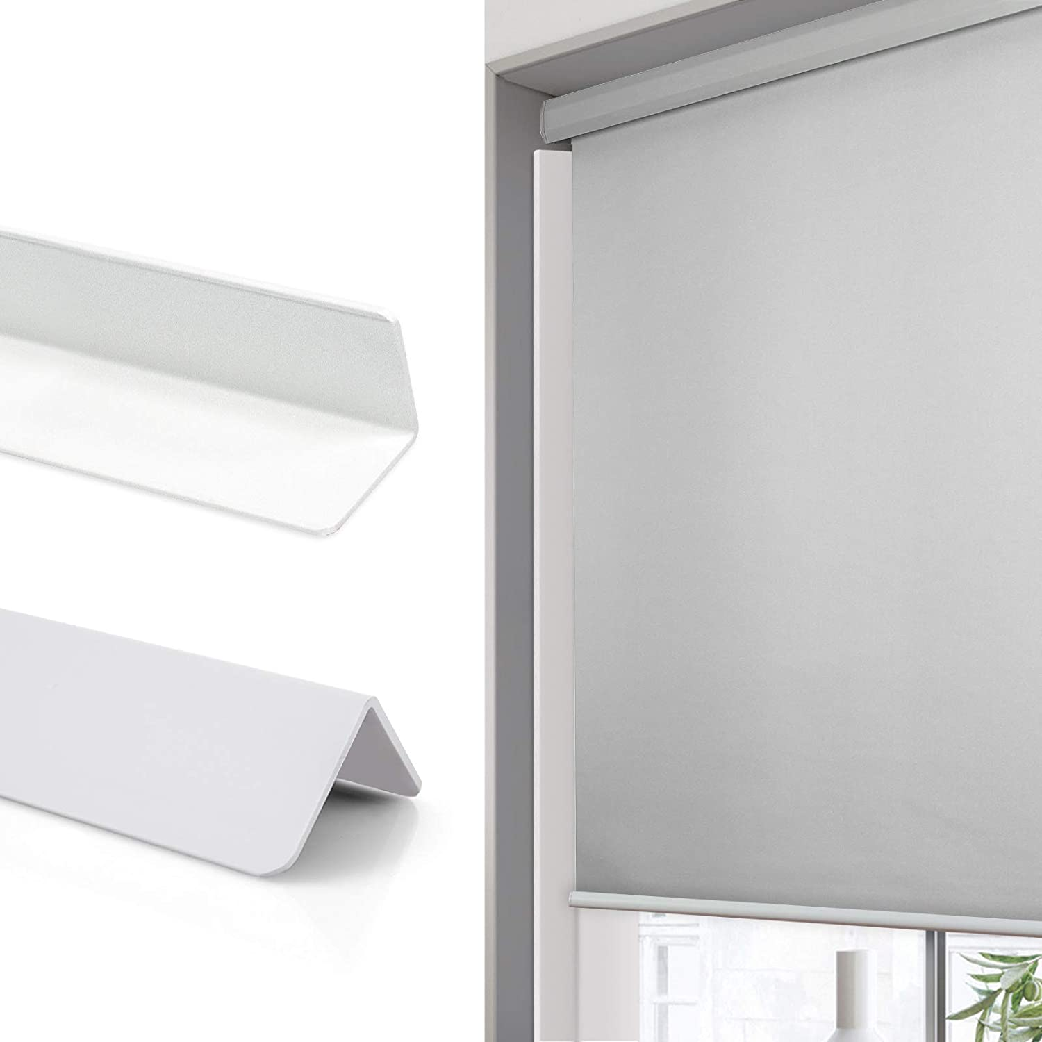 Graywind Light Blockers for Shades Block Sunlight Along Two Sides of Blackout Shades Blinds 2 Pcs