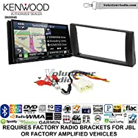 Volunteer Audio Kenwood Excelon DNX994S Double Din Radio Install Kit with GPS Navigation Apple CarPlay Android Auto Fits 2002-2006 Toyota Camry with Amplified System