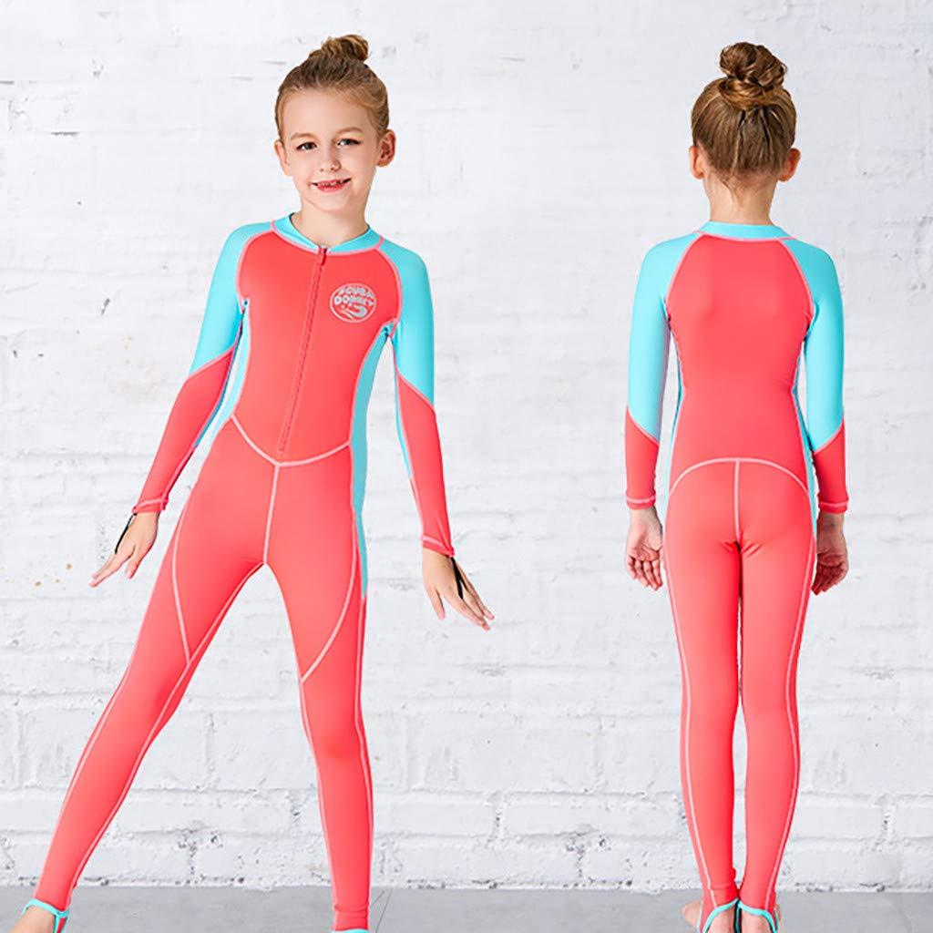 AIni Kinder Neoprenanzug Surfanzug,Wetsuit Schwimmen Surfanzug Surfen Tauchen Sport Badeanzug Kinder Sonnenschutz Kurze /Ärmel Einteiliger Badeanzug Tauchanzug Schnelles Trocknen