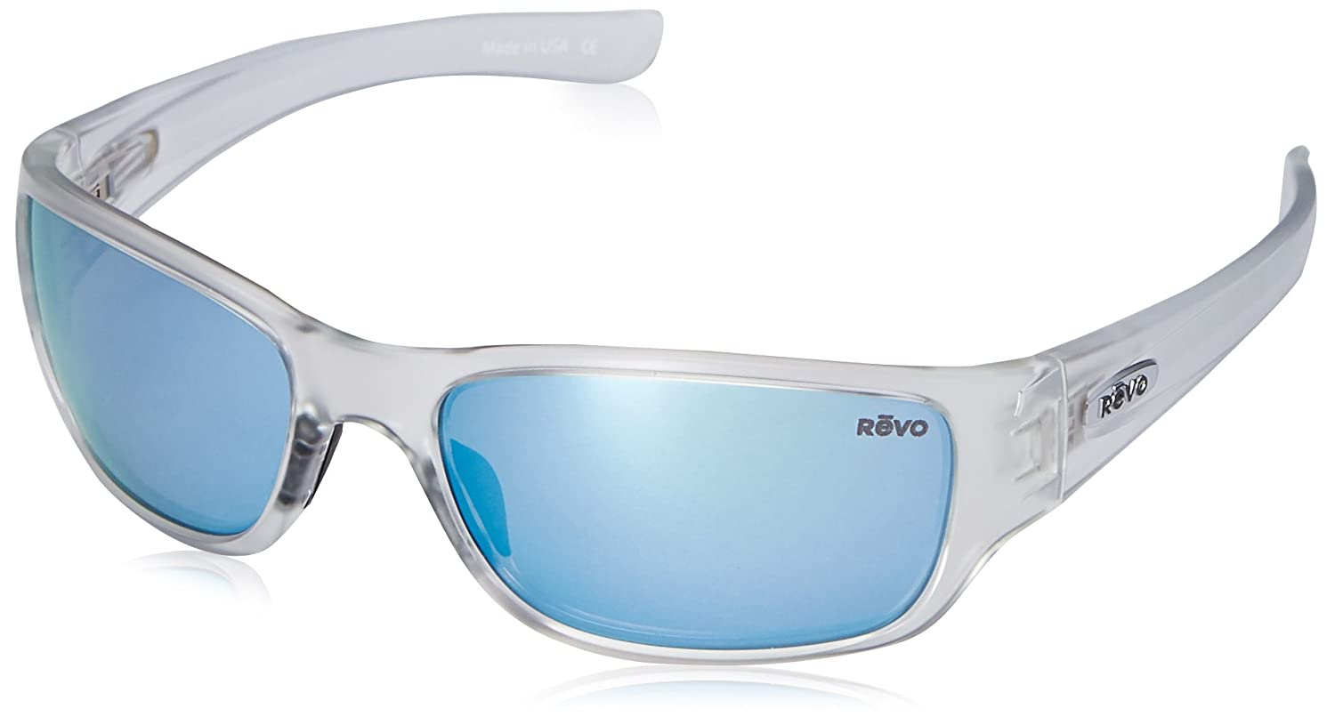 80b65a4966 Amazon.com  Revo Heading RE 4058 09 BL Polarized Rectangular Sunglasses
