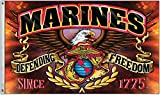 United States Marine Corps Defending Freedom 3 x 5 Foot Flag