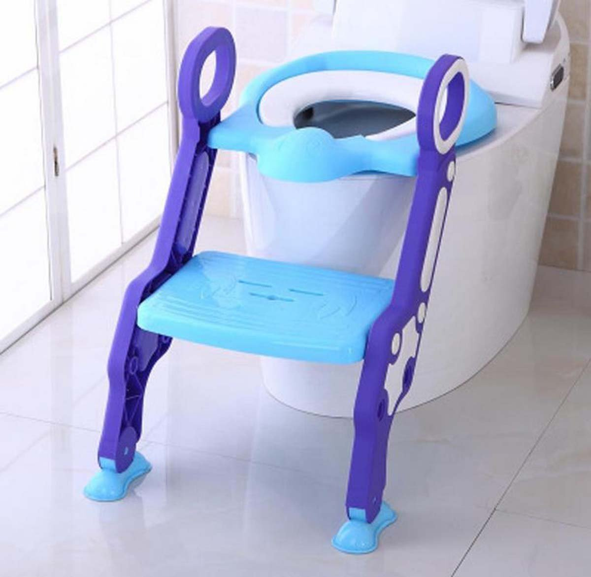 GONGFF Potty Toilet Seat With Step Stool Ladder, 2-In-1 Trainer For Kids And Toddlers Suitable For 3-7 Years Old,#2