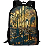 Markui Adult Travel Hiking Laptop Backpack Church Picture School Multipurpose Durable Daypacks Zipper Bags Fashion