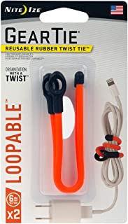 product image for Nite Ize GLS6-31-2R7 Gear Twist Tie 6 in-2 Pk, 6-Inch (2-Pack), Bright Orange