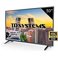 "TD Systems k50dlm8us–Smart TV de 50"" (Ultra HD 4K, Résolution 3840X 2160, HDR, 3X HDMI, VGA, 2X USB) Noir"