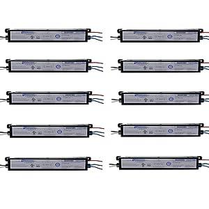 Robertson 1P20124 OEM-Pak of 10 Fluorescent eBallast for 1/2 F96T8 Linear Lamps, Instant Start, 120-277Vac, 50-60Hz, Normal Ballast Factor, HPF, Model ISA259T8MV /A