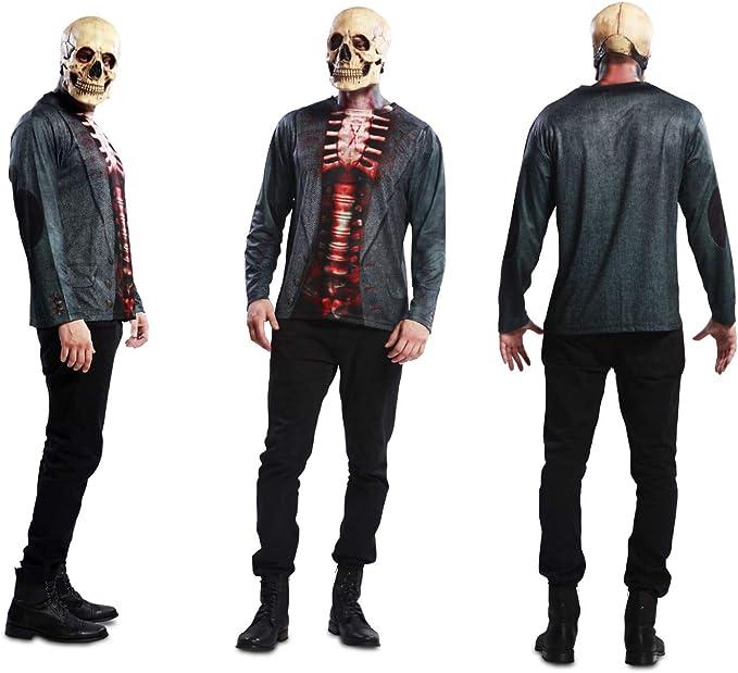 Disfraz Camiseta de Esqueleto Original de Carnaval para Hombre M ...