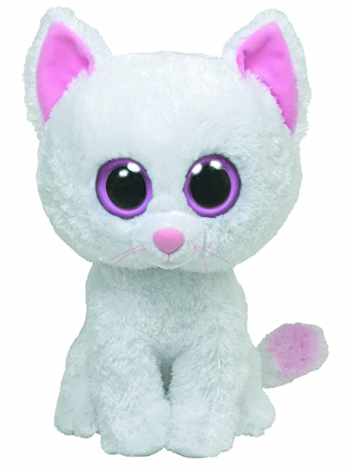 Ty Cashmere Buddy - Gato de peluche (tamaño grande), color blanco - Peluche