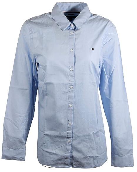3672db86a8 Tommy Hilfiger Womens Long Sleeve Poplin Shirt