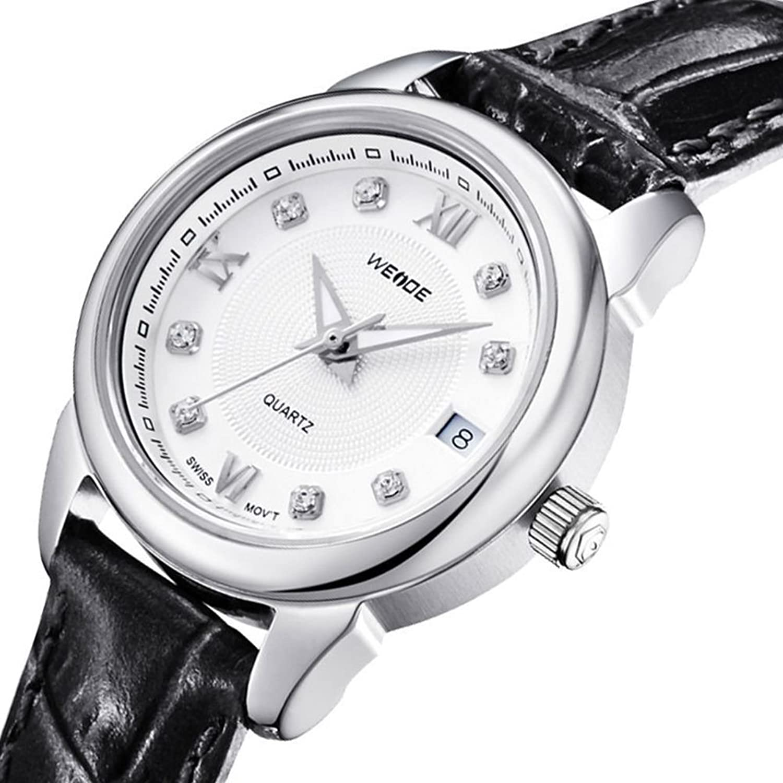 Armband en cuir Quarzuhr diamant digital montre de oder Rosen