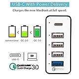 Type-C USB Charging Station, IBIT 60W Multi-Port