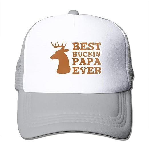fd9a78c532f Amazon.com: Best Buckin Papa Ever Summer Mesh Baseball Cap Trucker Hats  Women's Men Gray: Clothing