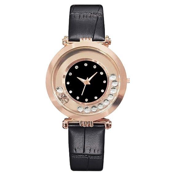MORETIME Relojes Mujer, De Malla Ultra Fino Negro para Mujer ...