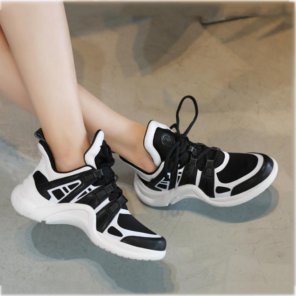 WYX Scarpe scarpe da ginnastica da Donna, Scarpe Scarpe Scarpe in Pelle Traspirante Coreana, Scarpe Casual da Esterno, Scarpe da Ginnastica da Running da Donna all'aperto (Coloreee   B, Dimensione   35) | Liquidazione  | Uomo/Donna Scarpa  750233