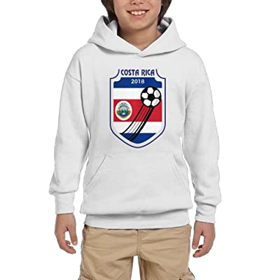 2018 Football Costa Rica Youth Athletic With Pocket Hooded Graphic Pullover Sweatshirts