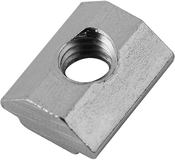 20Typ-M5 50pcs T-fente /Écrou de t/ête de marteau /Écrous en T en acier au carbone rev/êtu de nickel Pour le travail du bois