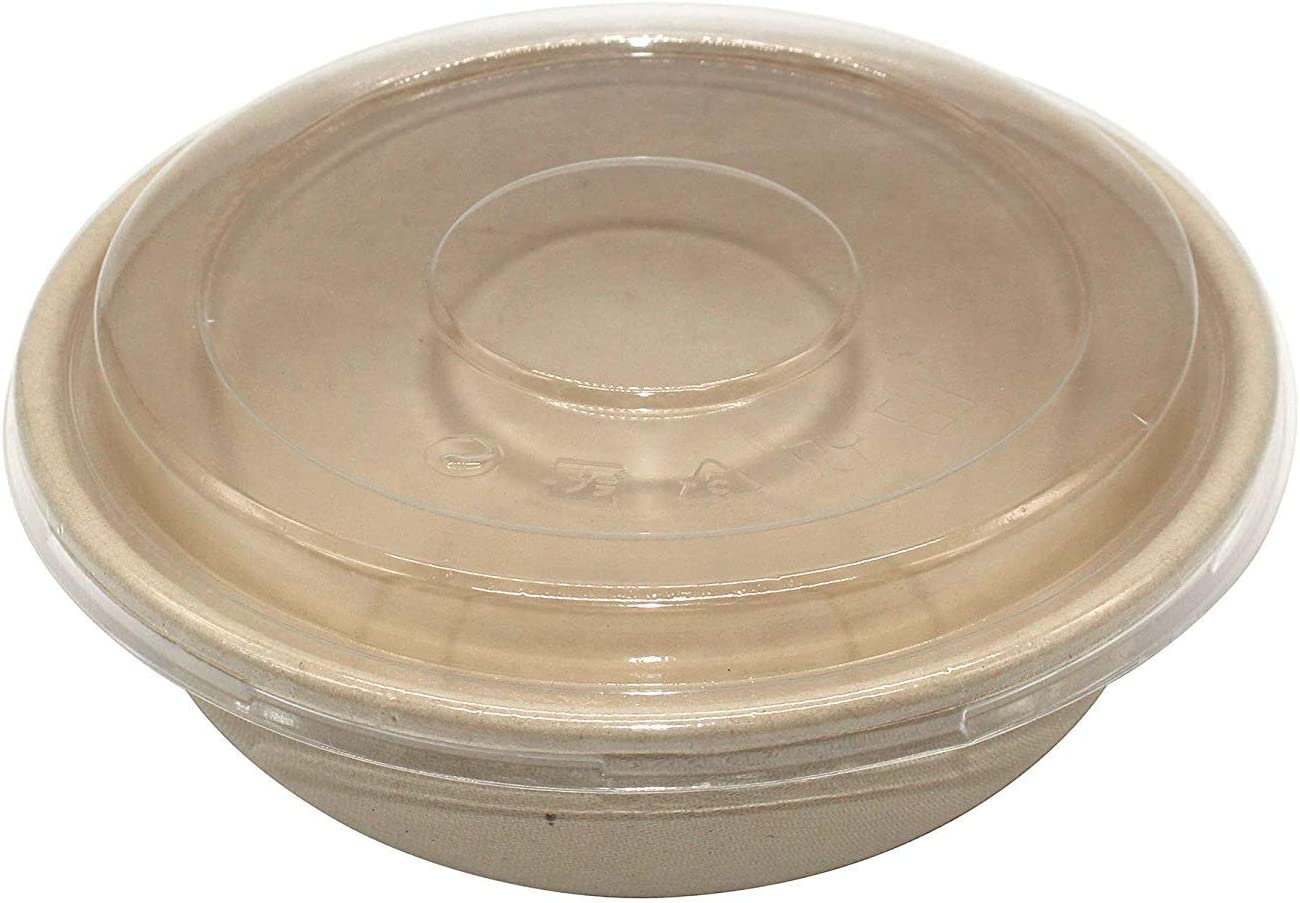 150-Pack Disposable 24oz Donbury Bowls with Lid Take Out Biodegradable Paper Food Container