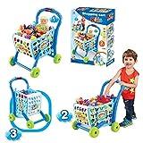 kids shopping trolley - EGT Boys Or Girls Kids Shopping Cart Trolley (Blue)