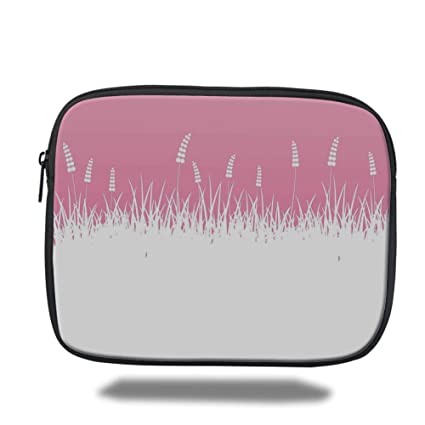 91cef3ce4bd0 Amazon.com: Laptop Sleeve Case,Pink Decor,Field Farm Life Inspired ...