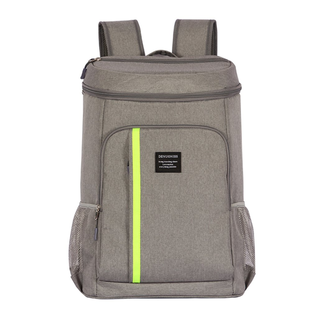 ANJUREN Backpack Cooler Insulated Bag Waterproof Backpacking Coolers 32.8L Large Capacity Bottle Opener Back Packs for Men Women Travel Lunch Picnic Hiking Beach Park Camping Day Trips (Gray, 32.8L)