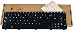 Eathtek Replacement Keyboard with Frame Compatible for IdeaPad B570 Z565 Z560 Z570 Z575 V570A V570G B575 B590 Series Black US Layout, Compatible Part Number MP-10A33US-686A T4TQ-US MP-10A33US-686A